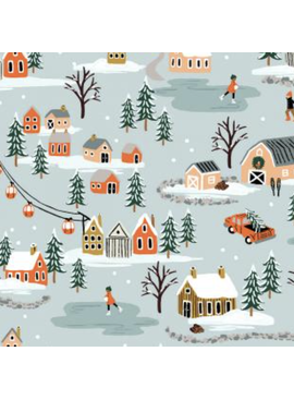 Cotton + Steel Holiday Classics by Rifle Paper Co.Holiday Village Mint