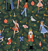 Cotton + Steel Holiday Classics by Rifle Paper Co. Nutcracker Evergreen