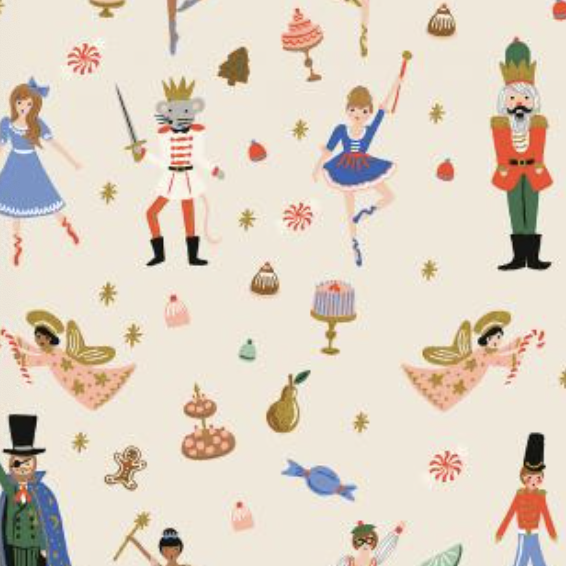Cotton + Steel Holiday Classics by Rifle Paper Co. Land of Sweets Cream