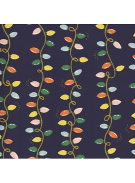Cotton + Steel Holiday Classics by Rifle Paper Co. Holiday Lights Navy