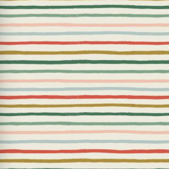 Cotton + Steel Holiday Classics by Rifle Paper Co. Festive Stripe