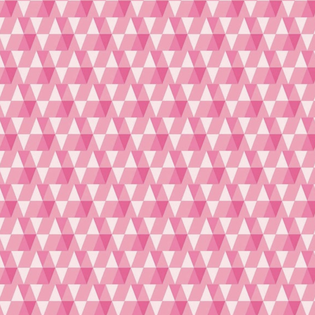 FIGO Peppermint by Dana Willard Triangles Pink