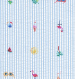 Robert Kaufman Seersucker Coast Prints Blue Sunnies
