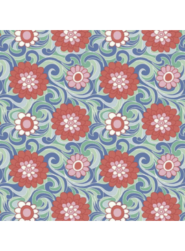Riley Blake The Carnaby Collection by Liberty Fabrics Bohemian Brights Carnation Carnival