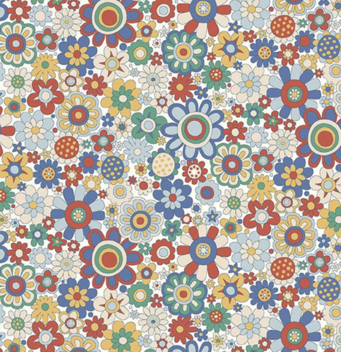 Riley Blake The Carnaby Collection by Liberty Fabrics Bohemian Brights Paradise Petals
