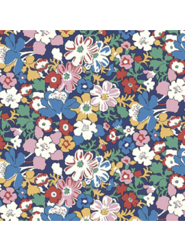 Riley Blake The Carnaby Collection by Liberty Fabrics Bohemian Brights Westbourne Posy Navy