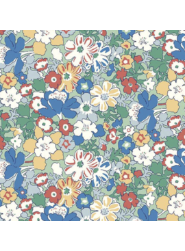 Riley Blake The Carnaby Collection by Liberty Fabrics Bohemian Brights Westbourne Posy Sage