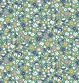 Riley Blake The Carnaby Collection by Liberty Fabrics Bohemian Brights Bloomsbury Blossom Green
