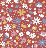 Riley Blake The Carnaby Collection by Liberty Fabrics Bohemian Brights Bloomsbury Blossom Red