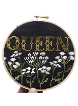 Queen Cross Stitch Kit By Junebug and Darlin'