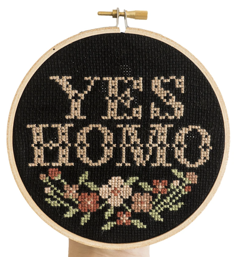 Yes Homo Cross Stitch Kit By Junebug and Darlin'