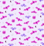 Cotton + Steel Bring Your Own Boos Bat Attack Lavender