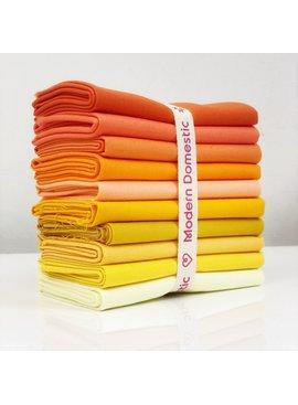 Robert Kaufman Kona Fat Quarter Bundle: Yellows/Orange 10pc