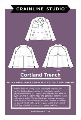 Grainline Studio Cortland Trench Pattern by Grainline Studio - Sizes 14-30