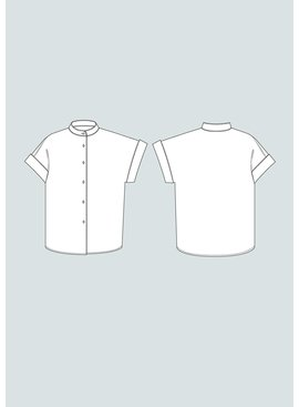The Assembly Line Patterns Cap Sleeve Shirt XS-L pattern by The Assembly Line Patterns