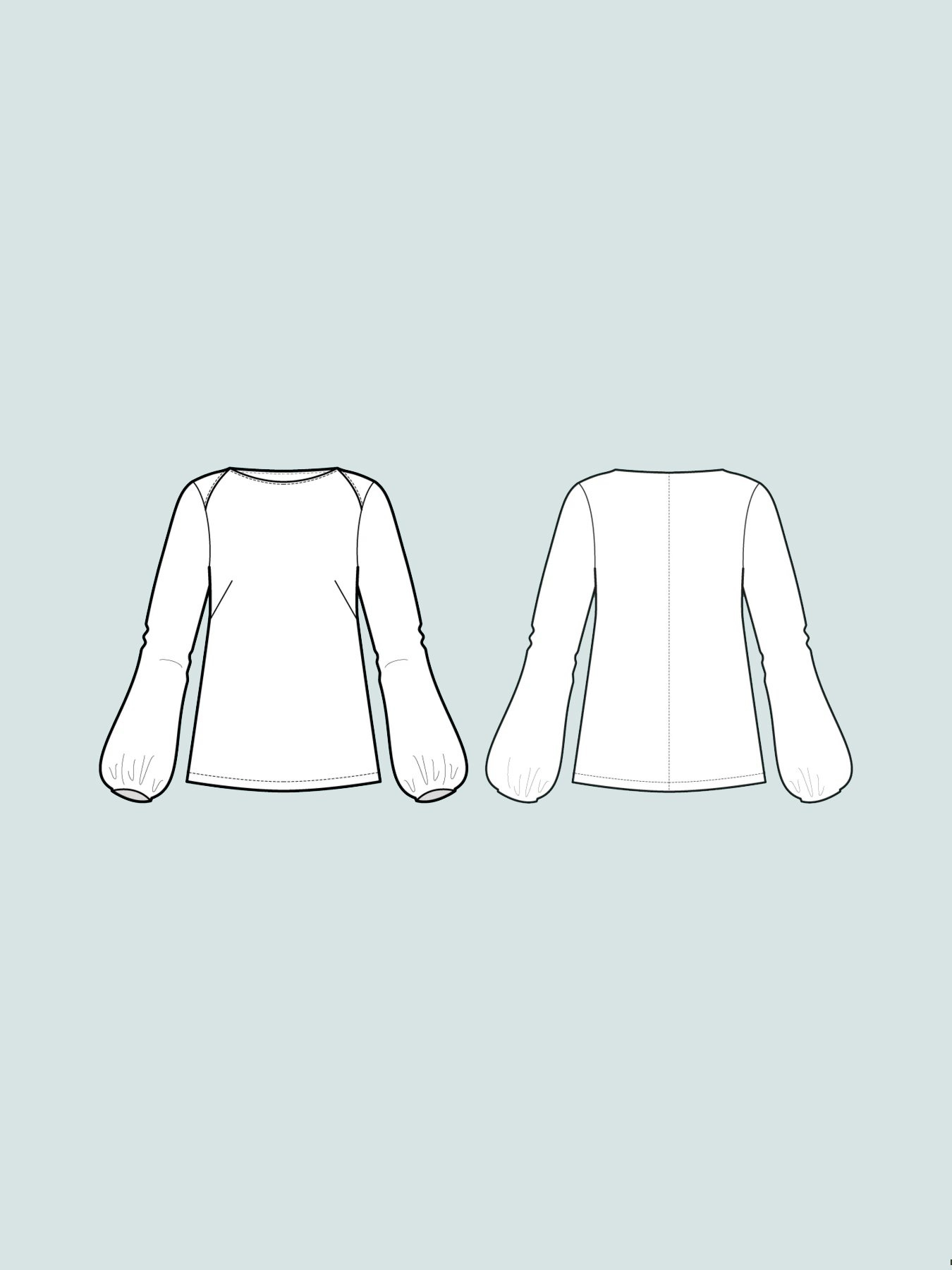 The Assembly Line Patterns Puff Shirt XS-L pattern by The Assembly Line Patterns