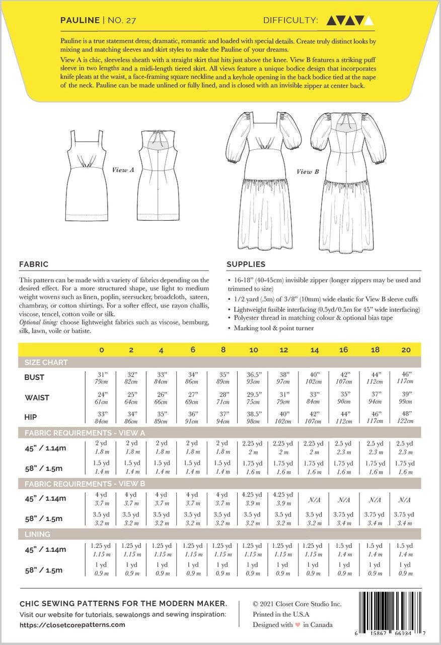 Closet Core Patterns Closet Core Patterns Pauline Dress