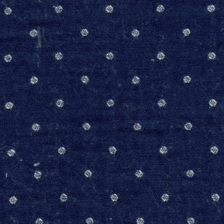 Kokka Kokka Yarn Dyed Double Gauze Dark Blue Polka Dot