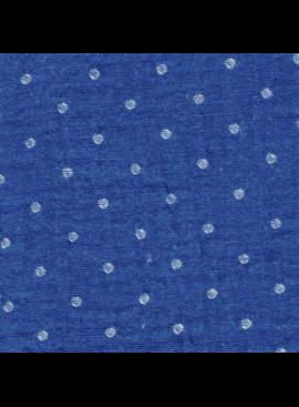 Kokka Kokka Yarn Dyed Double Gauze Blue Polka Dot