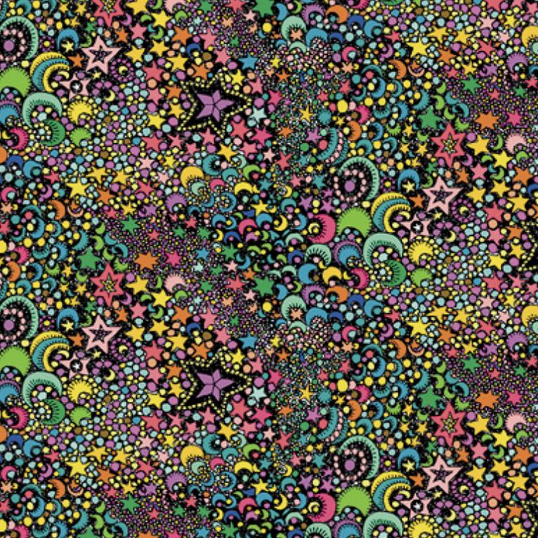 Windham Paradiso Galactic Black Knit by Windham Fabrics