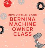 Modern Domestic Virtual Zoom BERNINA Machine Owner Class, Sunday, October 3, 10am-12pm