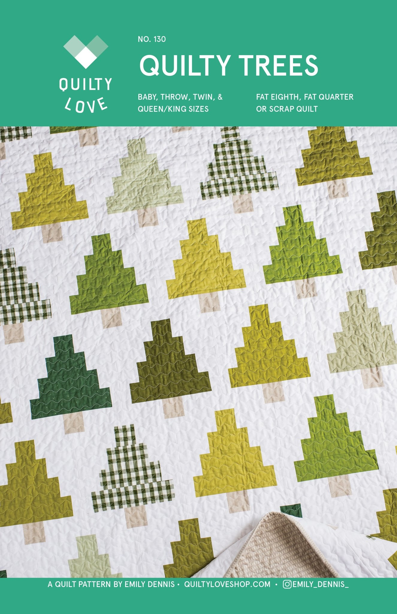 Quilty Love Quilty Trees Quilt Pattern by Quilty Love