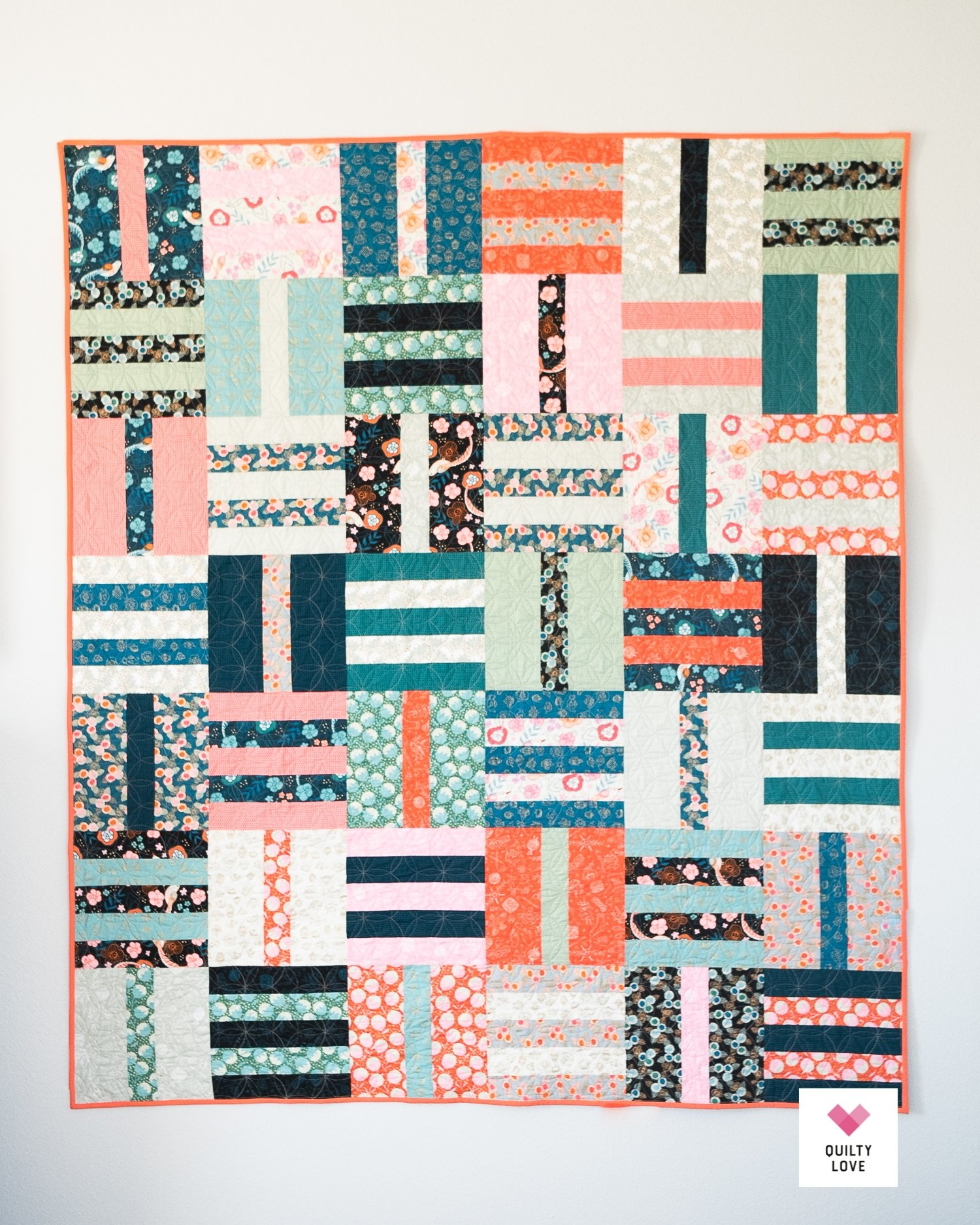 Quilty Love Fat Quarter Dash Quilt Pattern by Quilty Love
