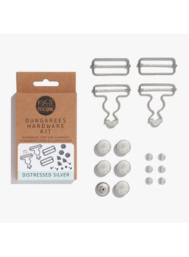 Kylie and the Machine Kylie and the Machine Dungaree Overalls Hardware Kit - Silver