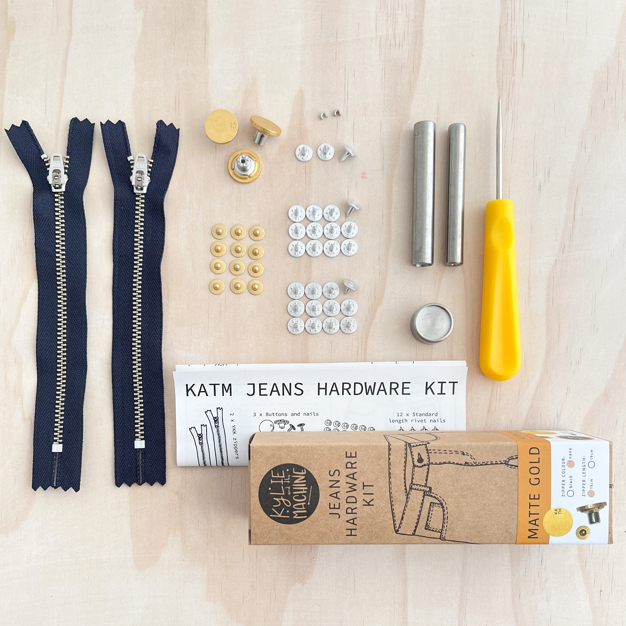 Kylie and the Machine Kylie and the Machine Jeans Hardware Kit - Gold
