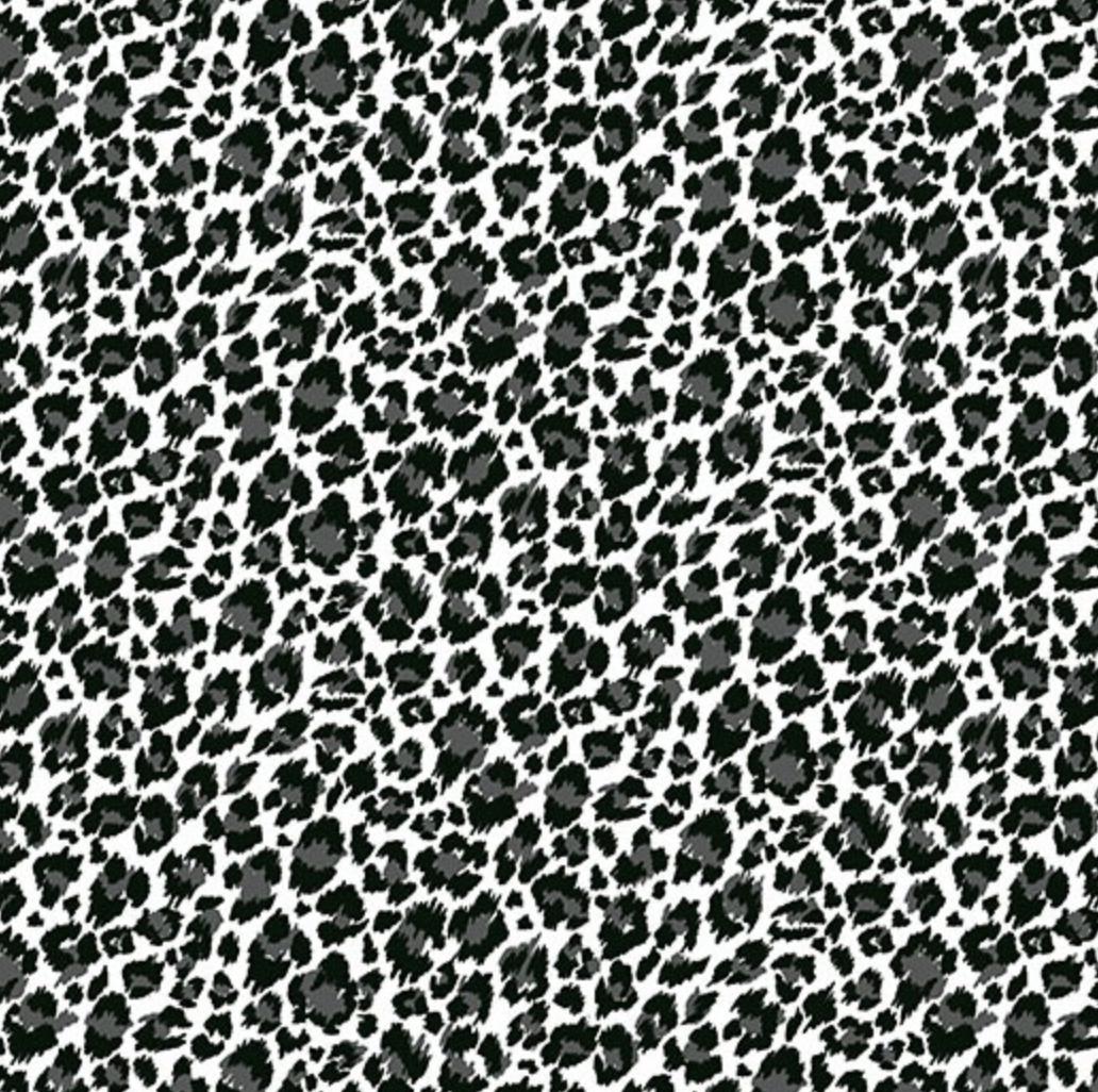 Andover Around the World by Makower UK Black and White Cheetah