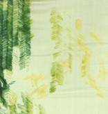 Kokka Nani Iro Green with Green and Yellow Dashes