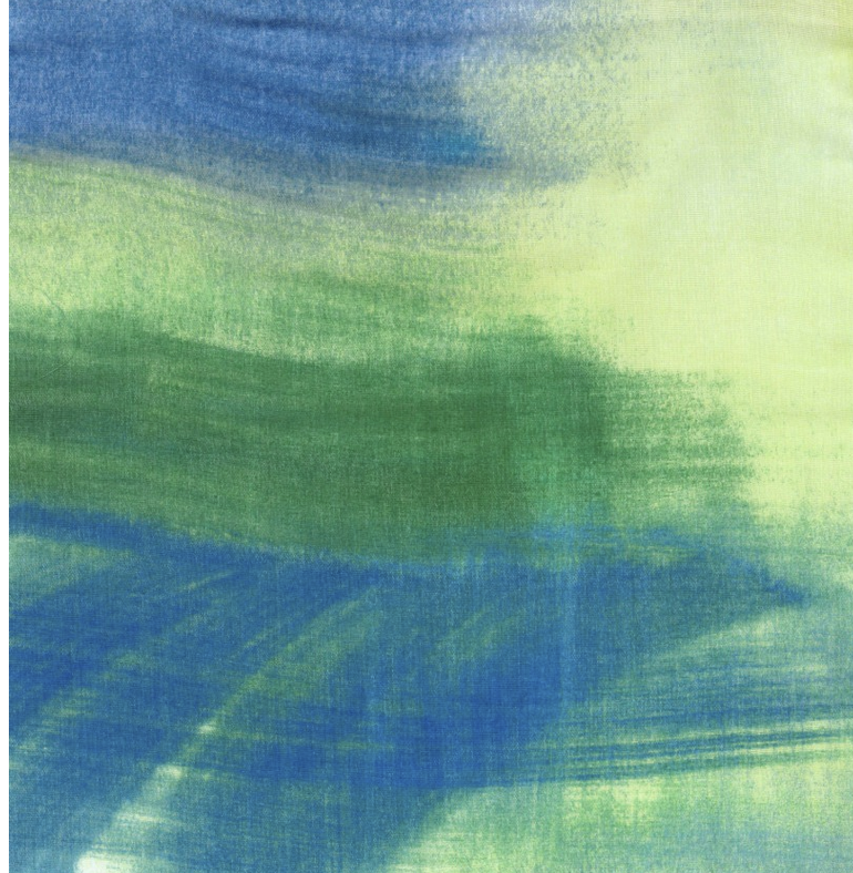 Kokka Nani Iro Double Gauze Green and Blue Strokes