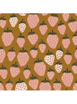 Cotton + Steel Under the Apple Tree: Queen of Berries Summer Sunset Unbleached Canvas