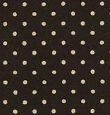 Robert Kaufman Sevenberry Canvas Natura Dot Black