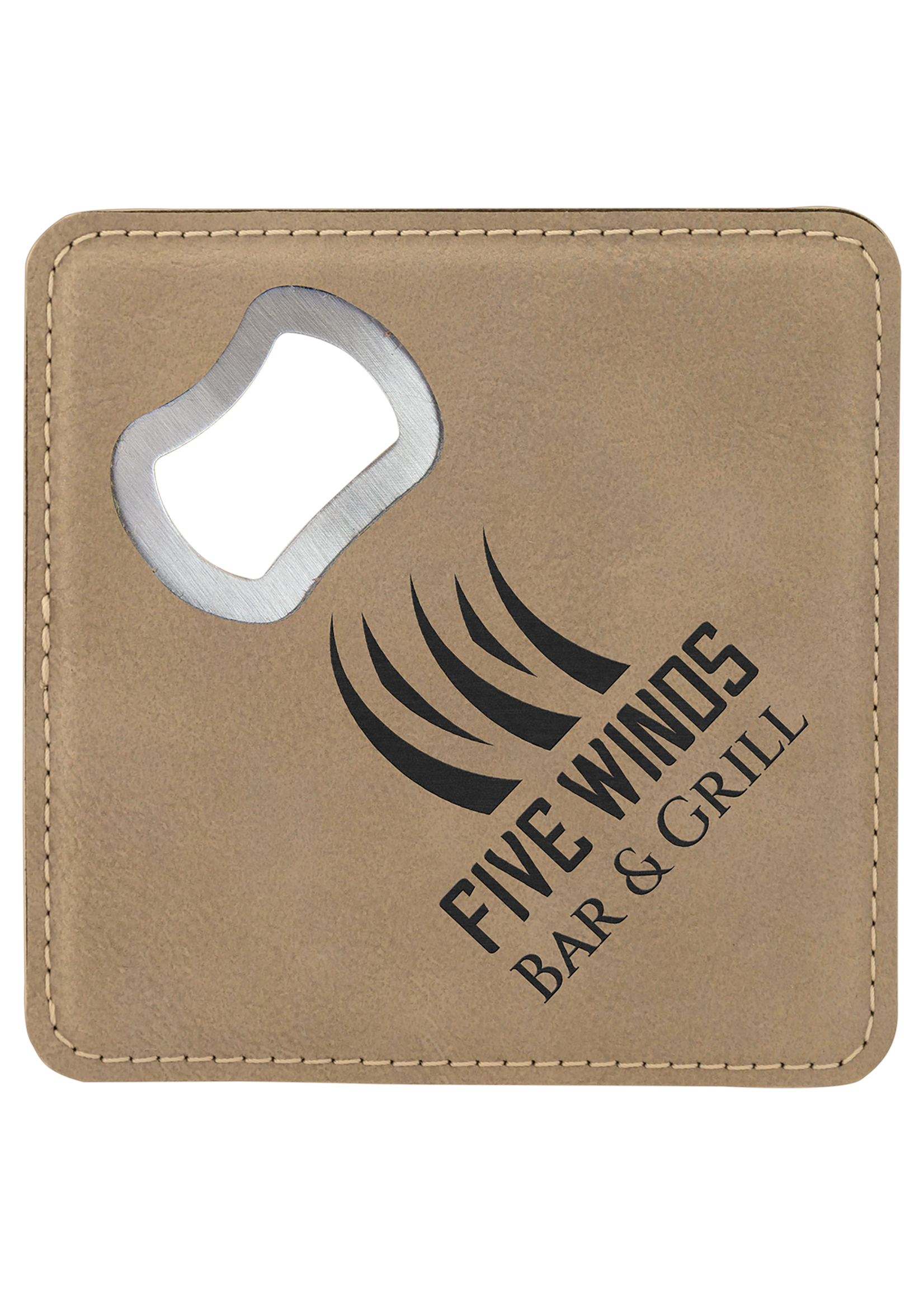 4X4 Leatherette Coaster and Bottle Opener