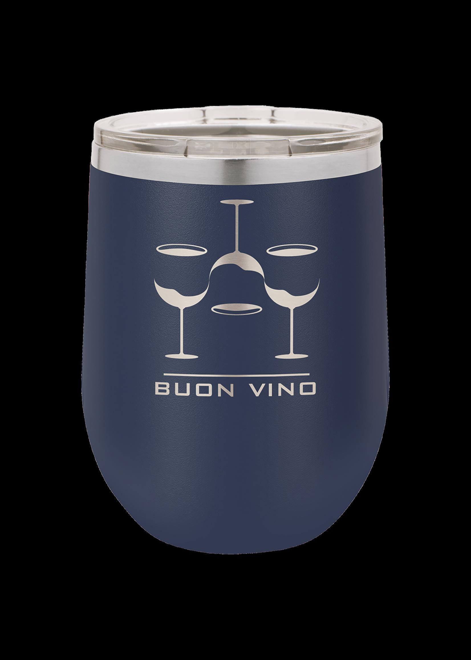 Polar Camel 12 oz Vacumm Insulated Stemless Wine Tumbler w/Lid