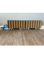 Laser cut Display for Hotwheels Matchbox toys. Truck and 1 Trailer