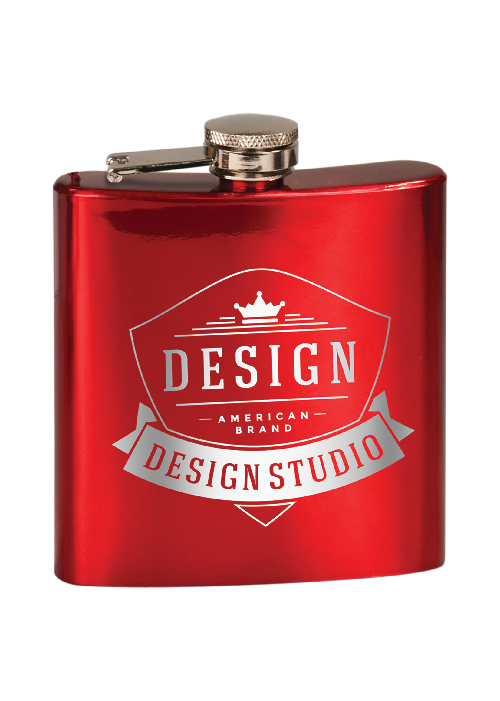 6 oz Stainless Steel Flask. Gloss and Matte Finished