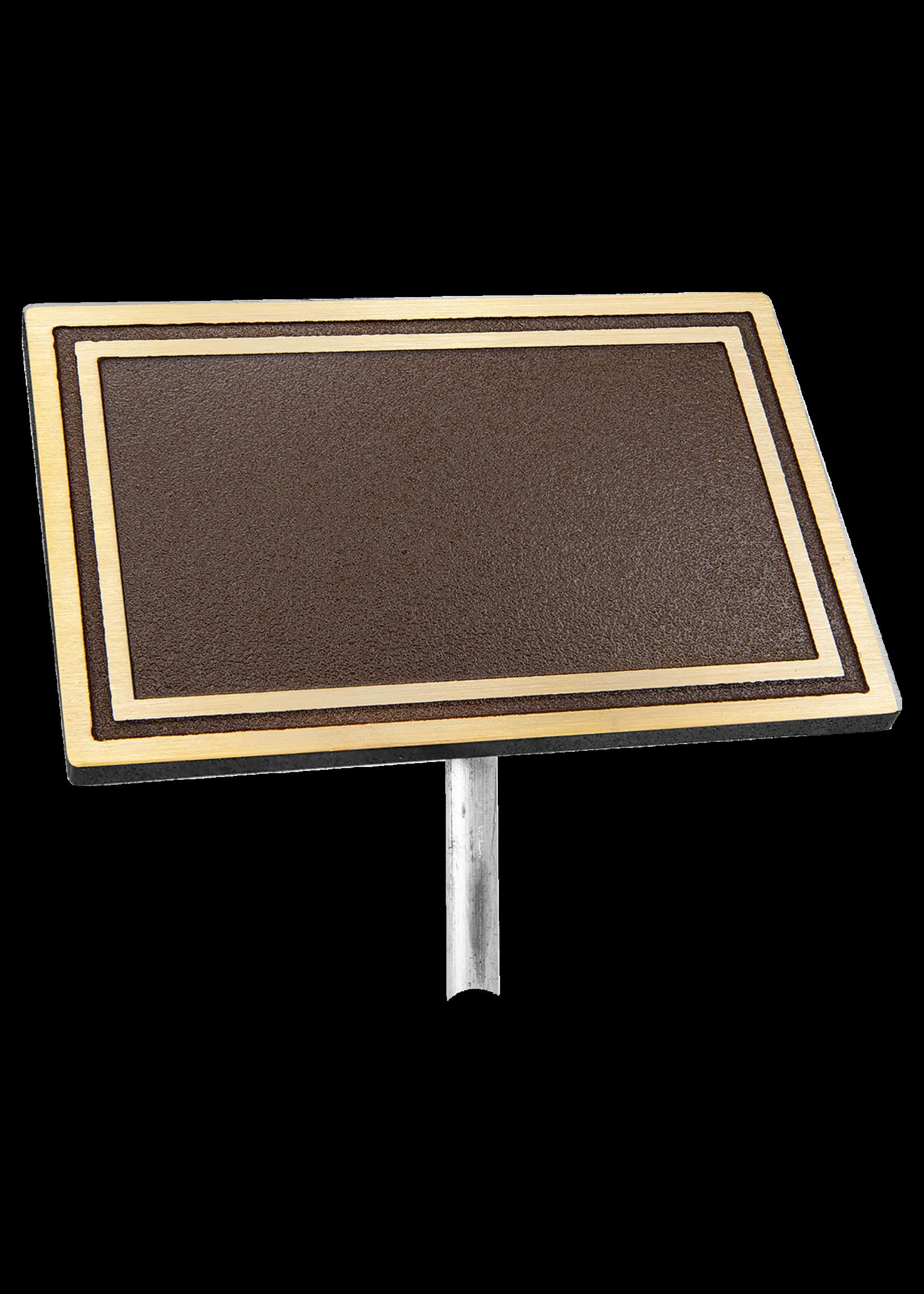 """Cast Aluminum Sign with 610mm (24"""") Aluminum Rod"""