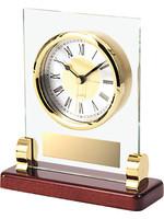 Glass & Brass Clock