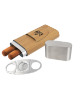 Leatherette Cigar case with Cutter