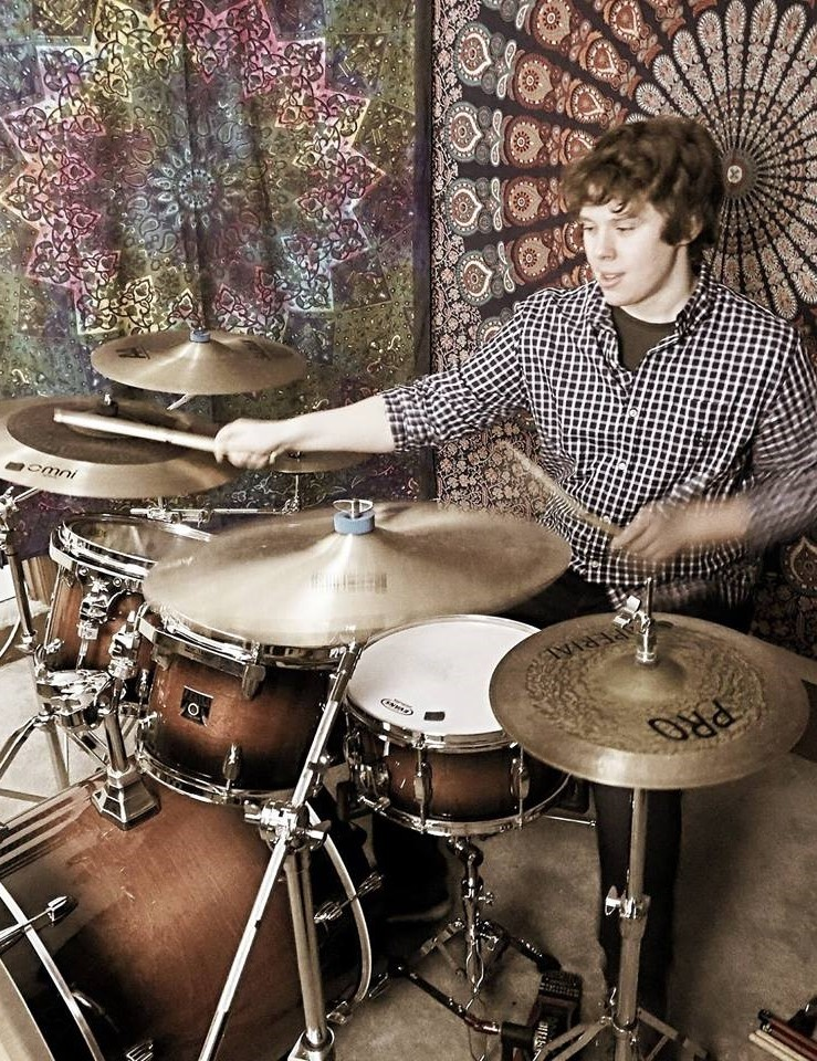 Taylor Ryan teaches drums at Town Center Music
