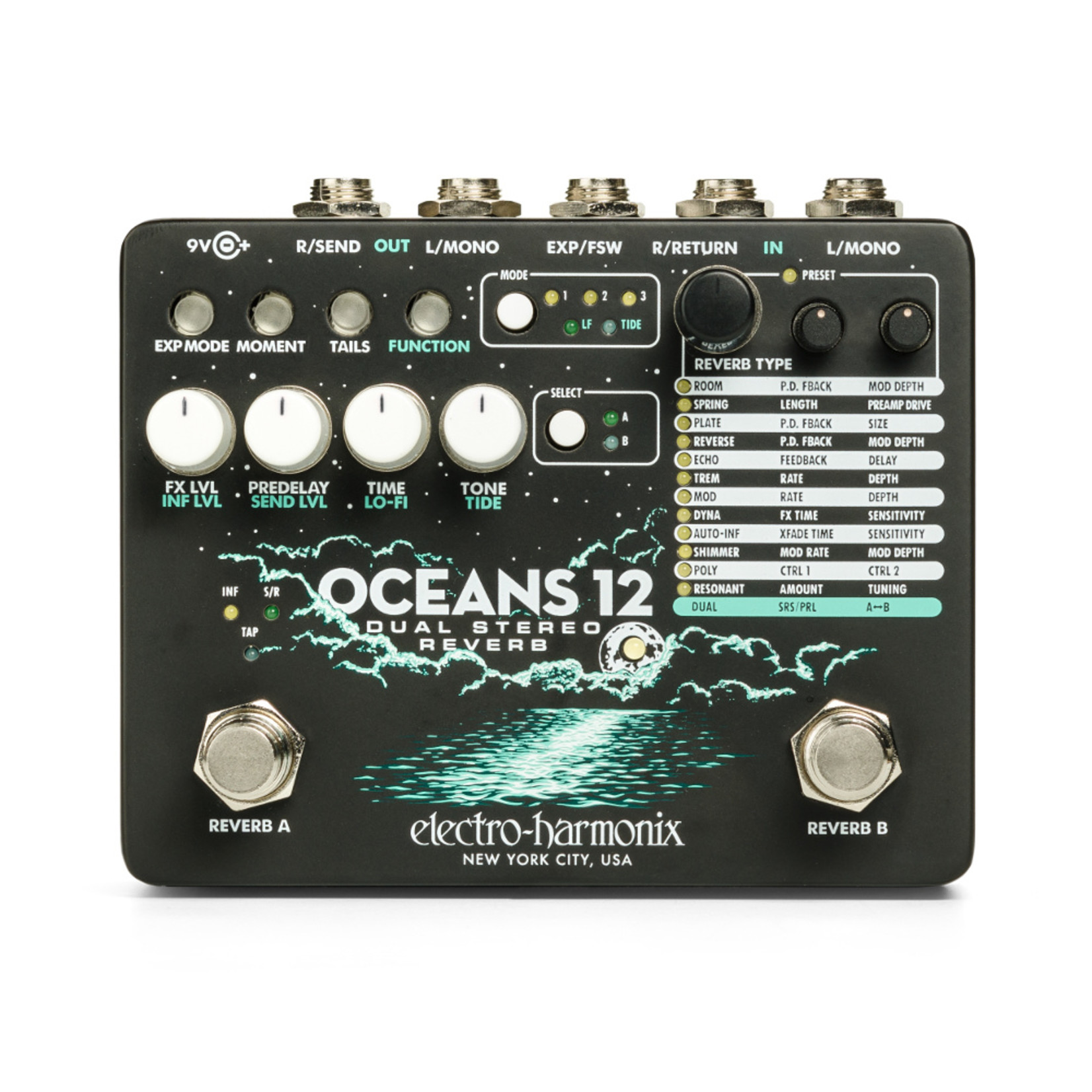 Electro Harmonix Electro Harmonix Oceans 12 Dual Stereo Reverb