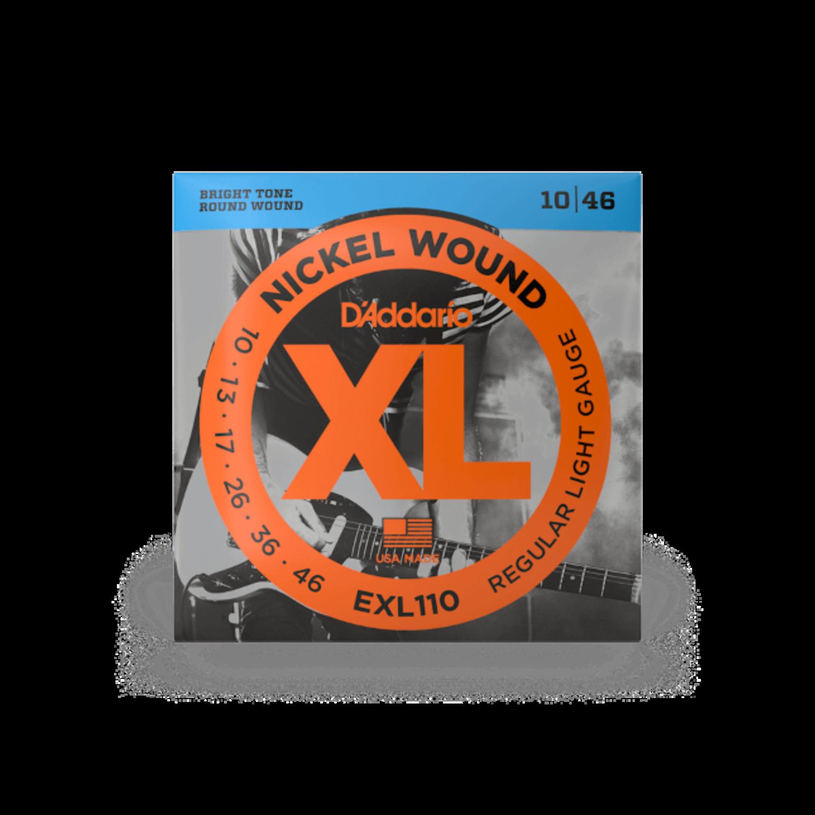 D'Addario D'Addario EXL110 Nickel Wound Electric Guitar Strings Regular Light 10-46
