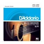 D'Addario D'Addario EJ11 80/20 Bronze Acoustic Guitar Strings Light 12-53
