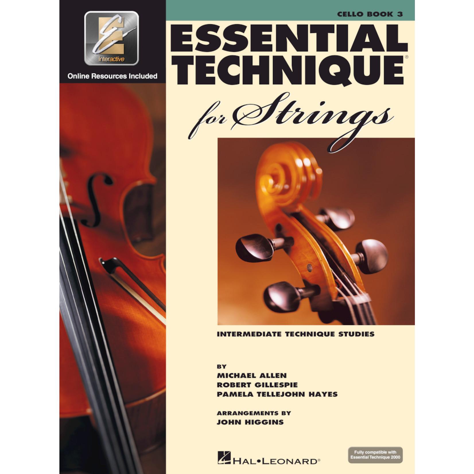 Hal Leonard Essential Technique for Strings Cello Book 3