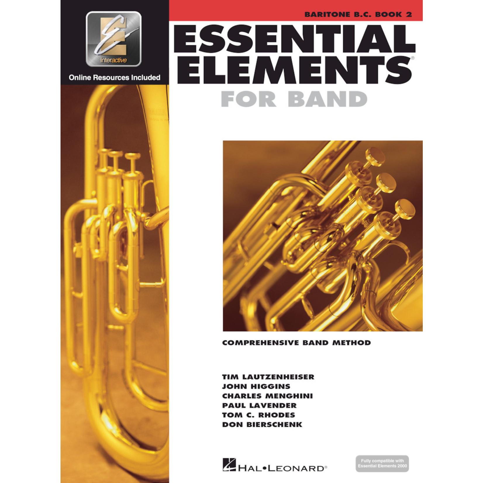 Hal Leonard Essential Elements for Band Baritone Bass Clef Book 2