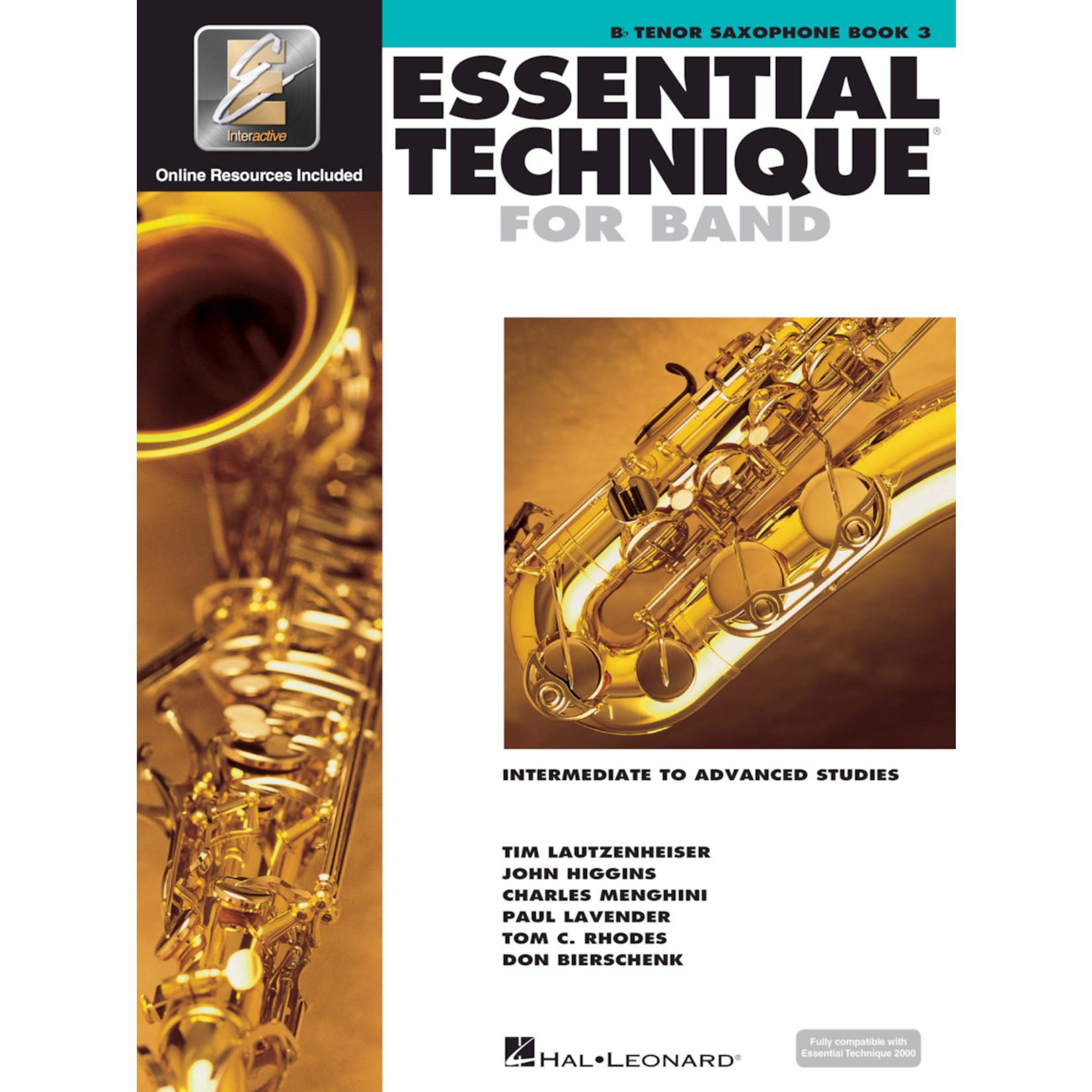 Hal Leonard Essential Technique for Band Tenor Saxophone Book 3