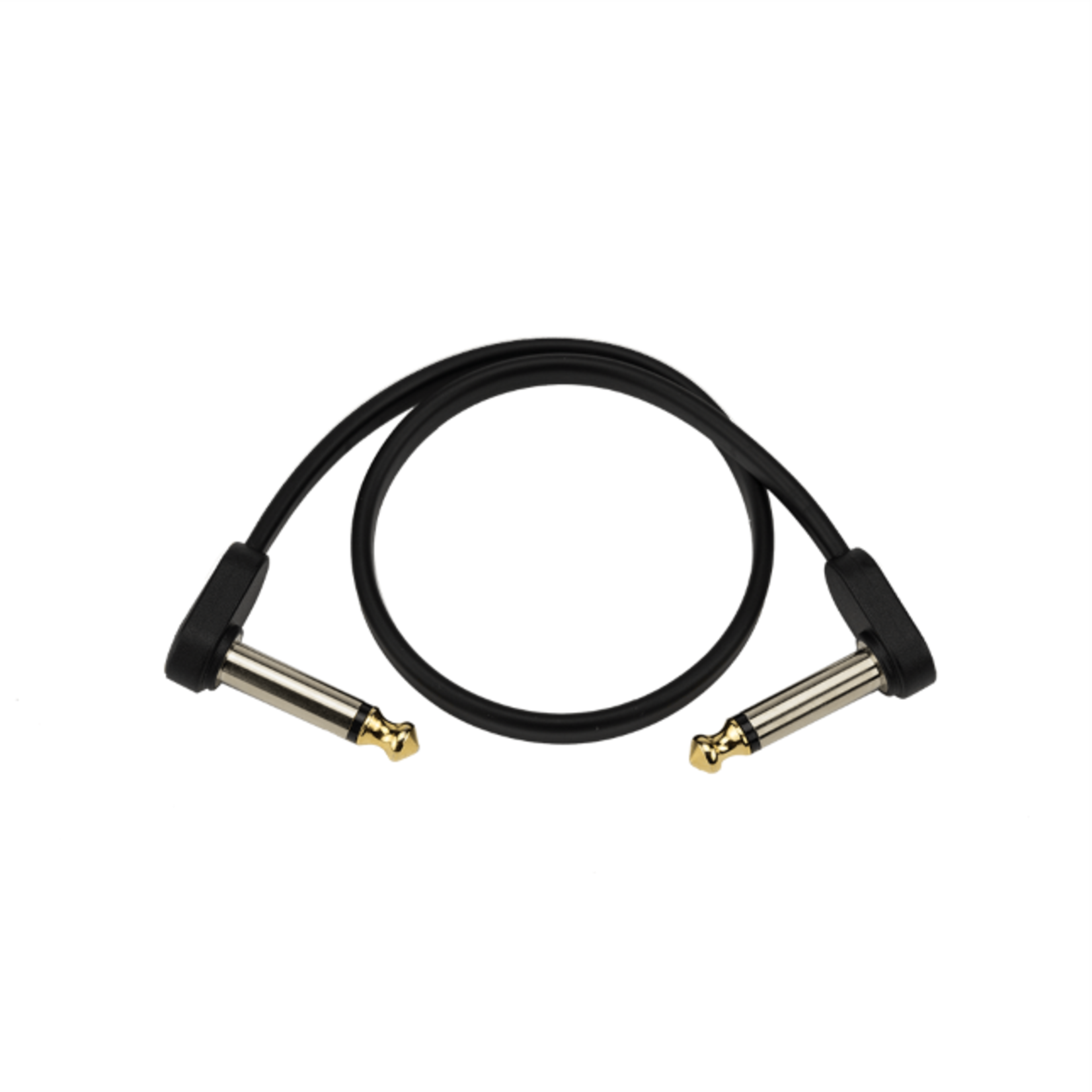 D'Addario D'Addario Flat Patch Cable 6 Inch Right Angle 2 Pack