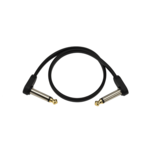 D'Addario D'Addario Flat Patch Cable 4 inch Right Angle Two Pack